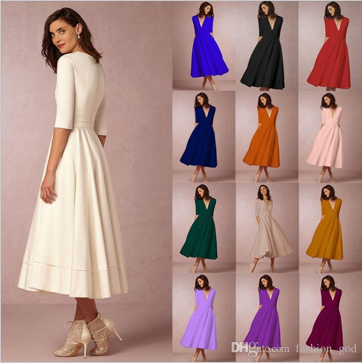 089da826b6d Dresses Women Business Cocktail Dresses Casual Plus Size Dress OL Work Dress  Women Vintage Fashion Dress Sexy V Neck Dresses Clothing B3964 Evening Gown  ...
