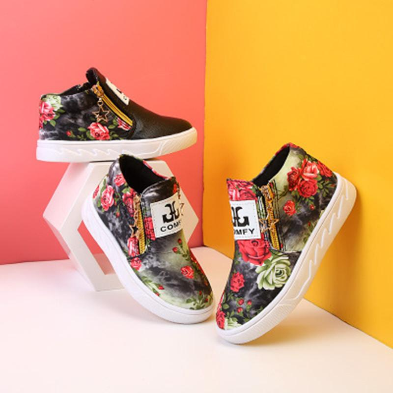 1213e6d71a0 Compre Zapatos De Lona Para Niños Botas Individuales Para Niños Nuevo  Estilo Primavera Y Otoño Zapatos De Bebé Zapatos De Deporte Para Niños Al  Aire Libre ...
