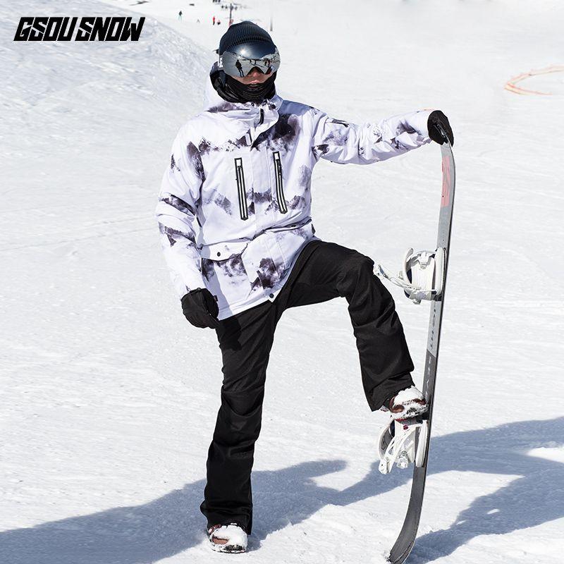 2019 GSOU SNOW Brand Ski Jackets Men Skiing Snowboarding Jackets Winter  Waterproof Snow Clothes Outdoor Sports Warm Snowboard Coats From Fwuyun eff4eefed