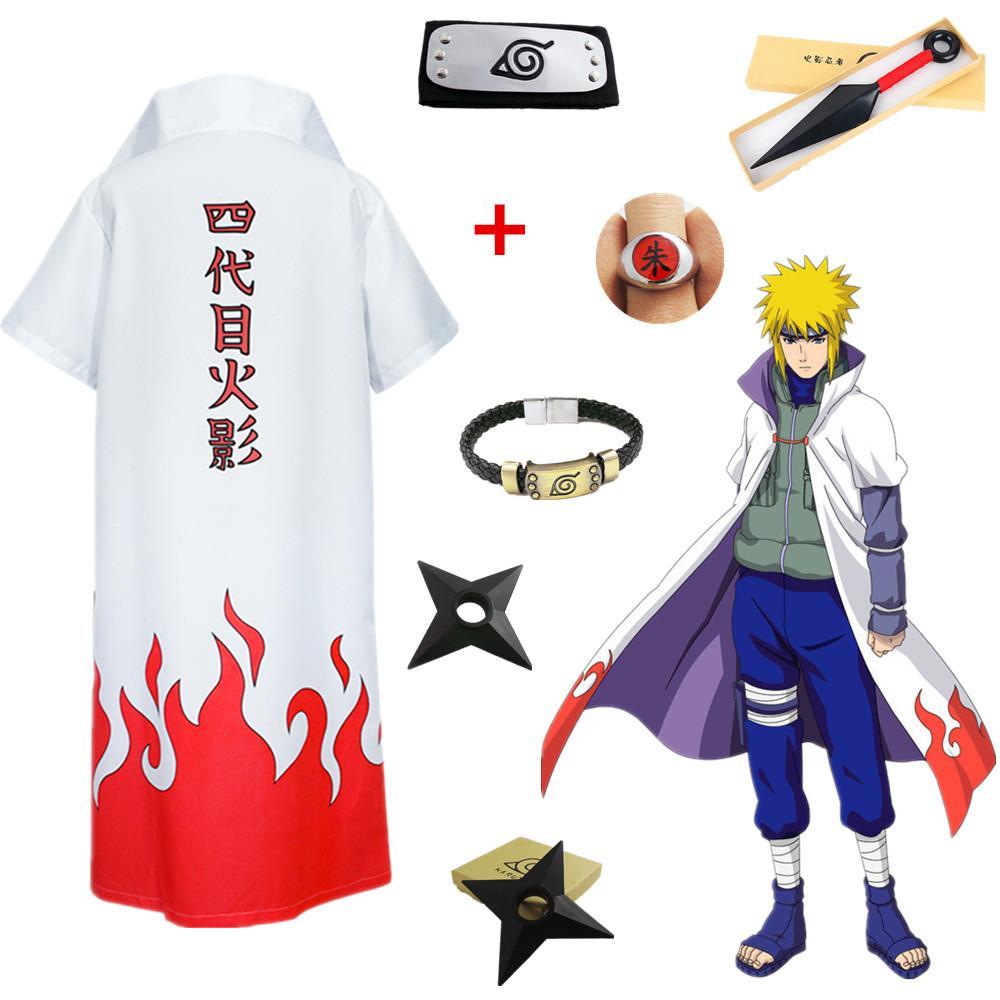 Compre Tamaño Asiático Japón Anime Naruto 4º Yondaime Namikaze Minato  Halloween Cosplay Hokage Nube Roja Disfraz Abrigo Abrigo A  34.4 Del  Riddle star ... 2cffe2232bc