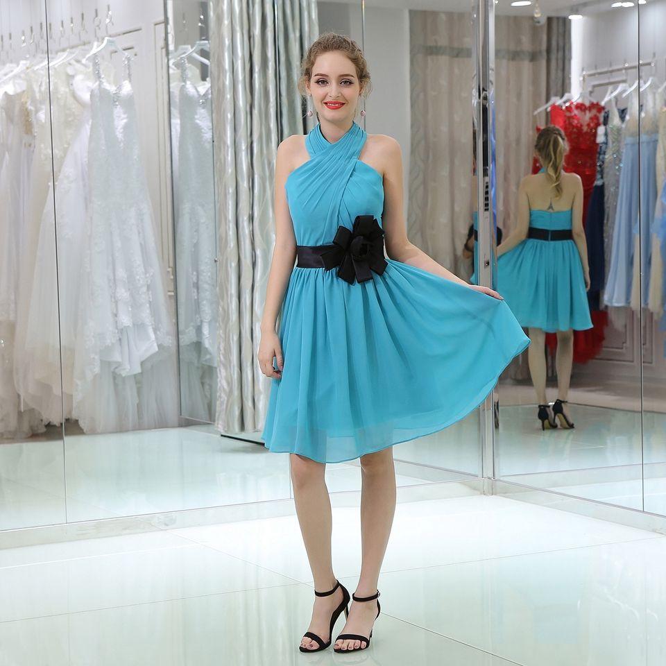 Short Evening Dresses Robe De Soiree 2018 Formal Dress Pink Blue ...