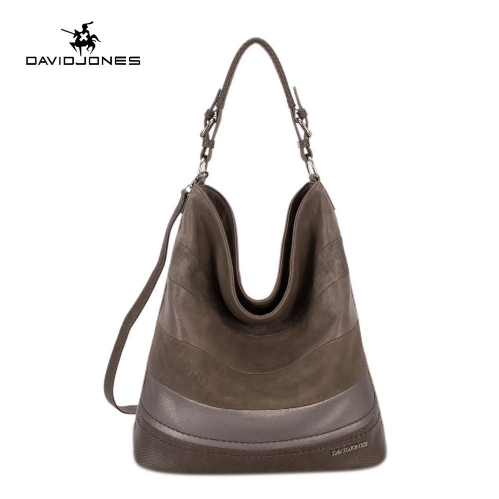 bd193f0cf1 DAVIDJONES Women Hobo Bags Female PU Serpentine Shoulder Bags Ladies Handbag  Top Handle Messenger Bags Large Capacity Crossbody Reusable Grocery Bags  Womens ...