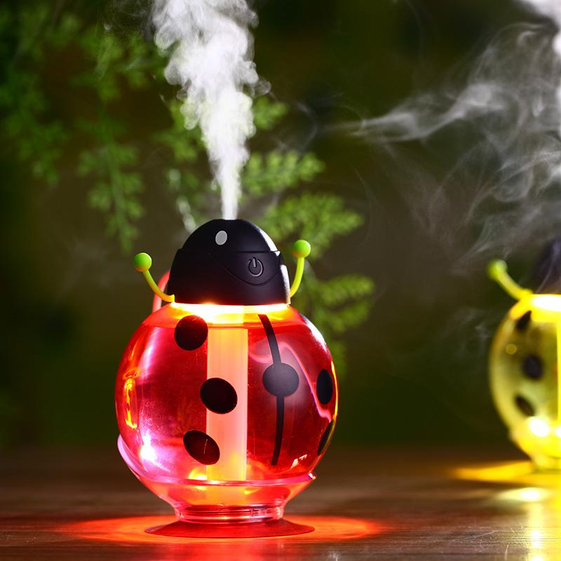 93f3be12a 2019 Toloyo Small Ladybug Humidifier Colorful Light Mini Air Humidifier DC  5V USB Room Diffuser Portable Mist Maker From Golden start 2