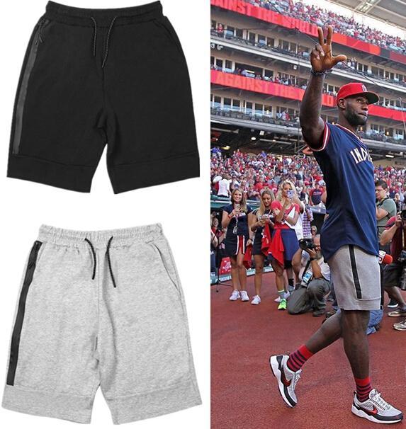 Herren Sport Shorts Zipper Pocket Sport Hosen Freizeithosen Grau Schwarz S-XL Short Herren Casual Sport Shorts