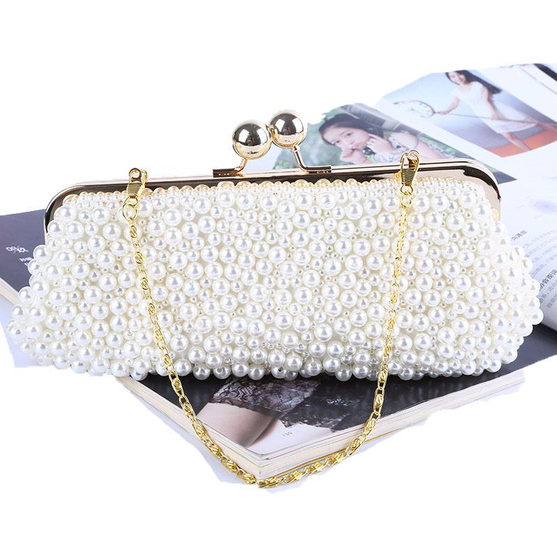 eb25223d55 Full Beaded Women Vintage Evening Bags Imitation Pearl Shell Shaped Women Bag  Shoulder Bags,Clutch Bag For Wedding White Handbags Discount Designer  Handbags ...