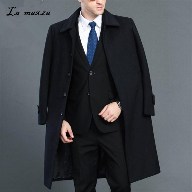 Plus Size 2018 Smart Casual Mens Winter Overcoats Fashion Dress Coat Mens  High Quality 4XL