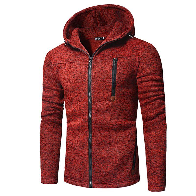 e1bdf26f7a69 Großhandel Männlicher Reißverschluss Mit Kapuze Sweatshirt Herren Kleidung  Trendy Reißverschluss Splicing Pullover Sweatshirts Tops Plus Size  Strickjacke ...