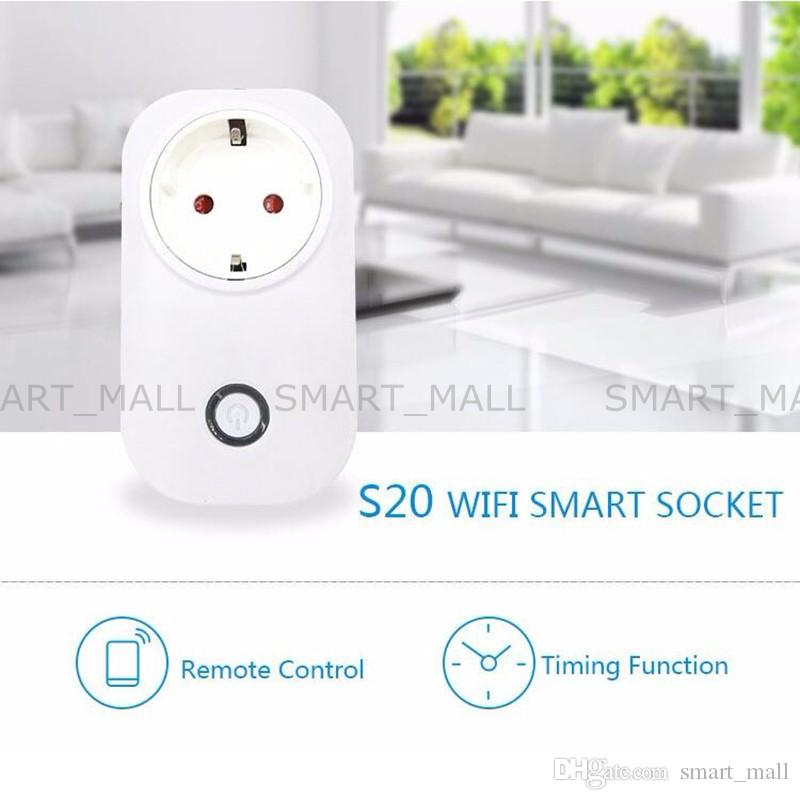 Presa telecomando wireless di Sonoff S20 Wifi Presa di corrente domestica intelligente EU US UK CN Via App Phone Smart Timer Home Plug