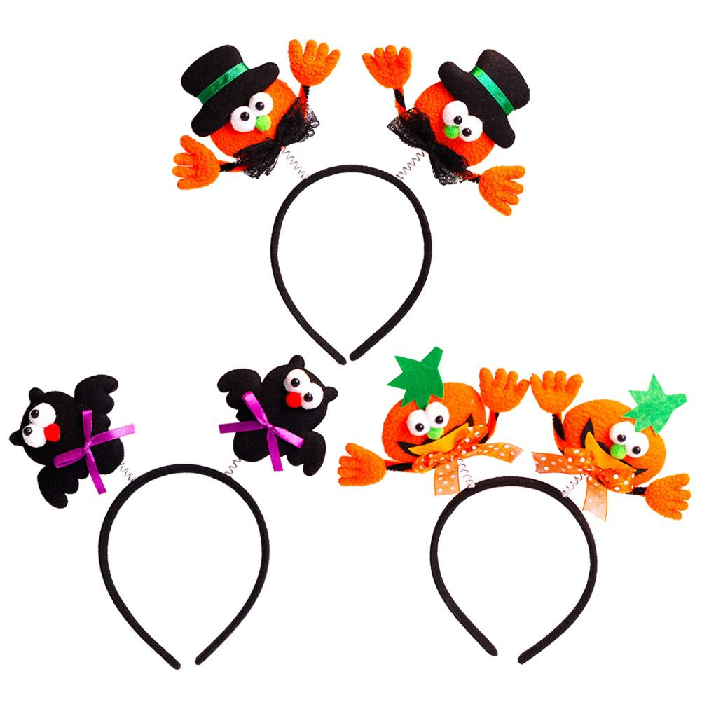 halloween headband with boppers luminous hair band head piece accessories party props supplies decoration costume favors decorative hair accessories