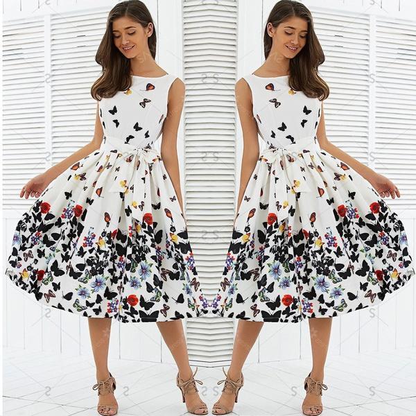 Grosshandel 50er Jahre 60er Jahre Rockabilly Kleid Vintage Falten