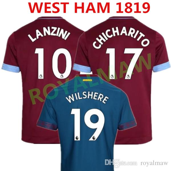 58e0b3b79 NEW 1819 CHICHARITO ARNAUTOVIC WILSHERE WEST HAM United Soccer ...