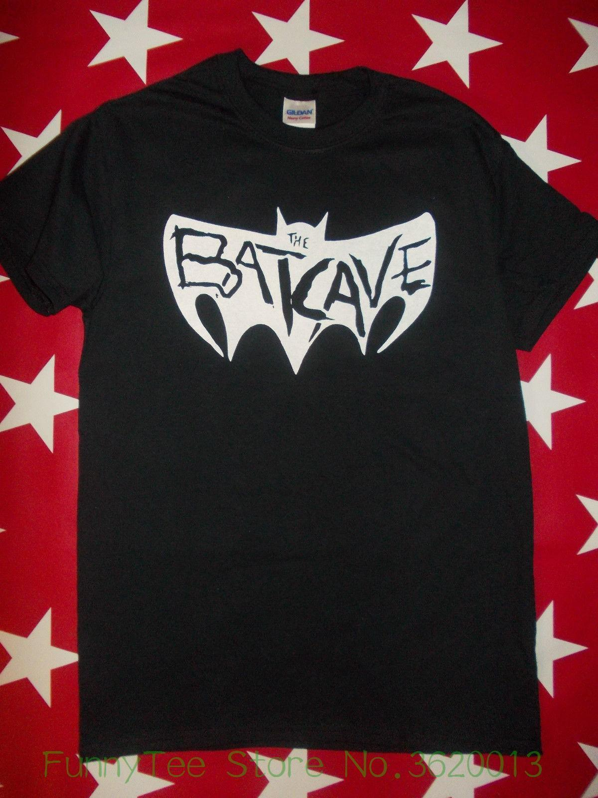 Womens Tee Batcave Goth Logo Screen Printed T Shirt Specimen Alien