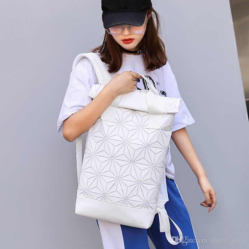 hot 2018 Backpack rhombus men women unisex backpack Diamond Lattice fashion bag sports and leisure