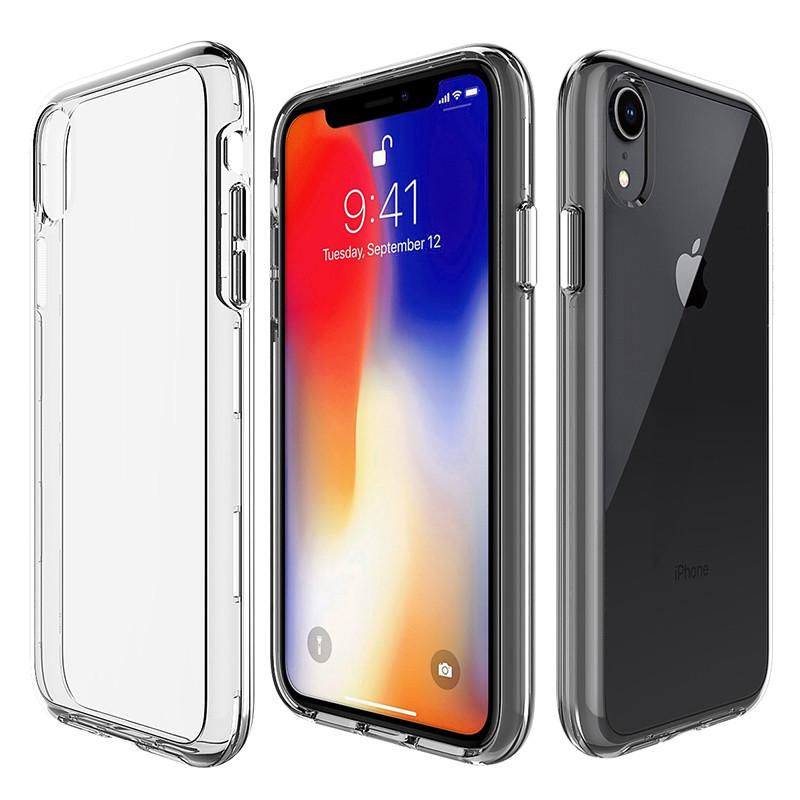 For Iphone Xs Max Case Clear Hybrid Bumper Shockproof Case Cover