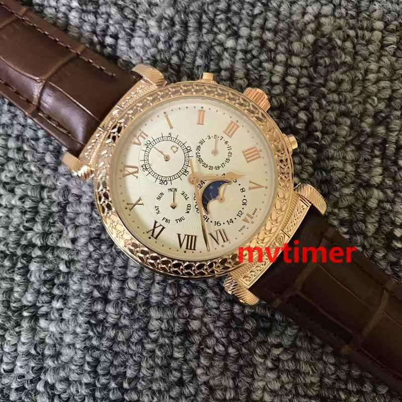 8f94ead9e83 Brand Luxury Womens Fashion Leather Mens Automatic SKY MOON Tourbillon Aaa  Designer Watches Men Engraving Case Wristwatch Automatic Watch Online Watch  Buy ...