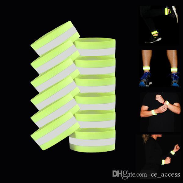 Ultralight Emniyet Yansıtıcı Uyarı 3 m Bant Kemer Kol Bacak ayak bileği Sapanlar Açık Spor Aksesuarları için Gece Bisiklet Koruyucu Melek