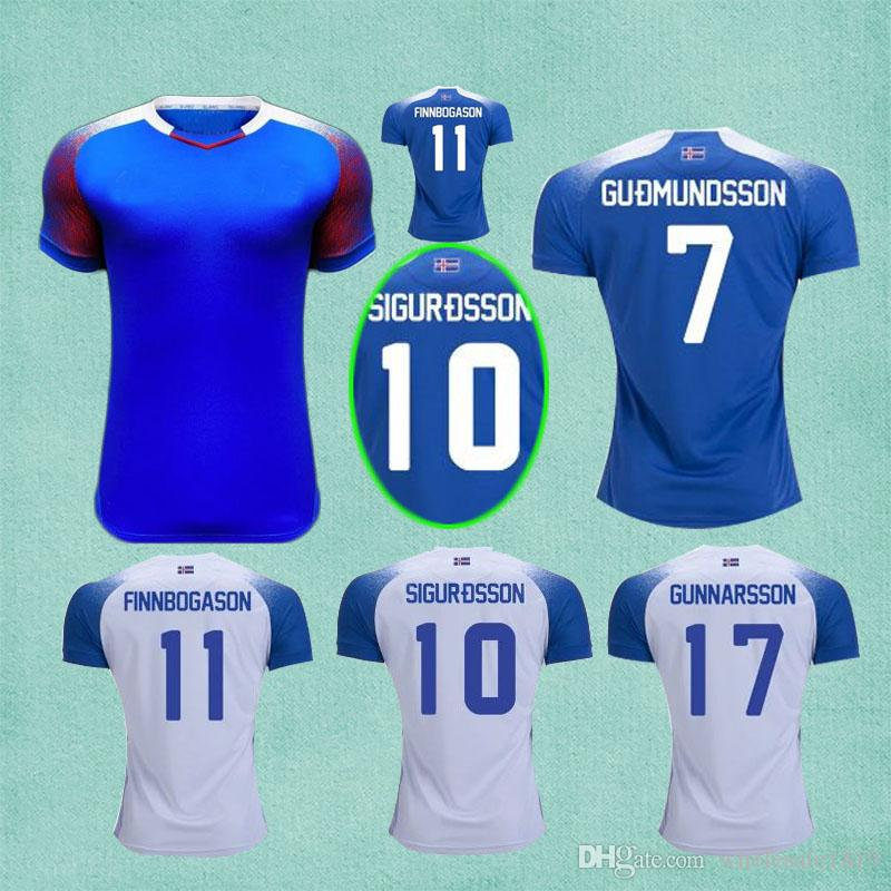 d3c08195d Iceland 2018 World Cup Jerseys Home Away Sigurdsson Sigthorsson Top Quality  Soccer Jerseys 18 19 Iceland Football Shirts Kits
