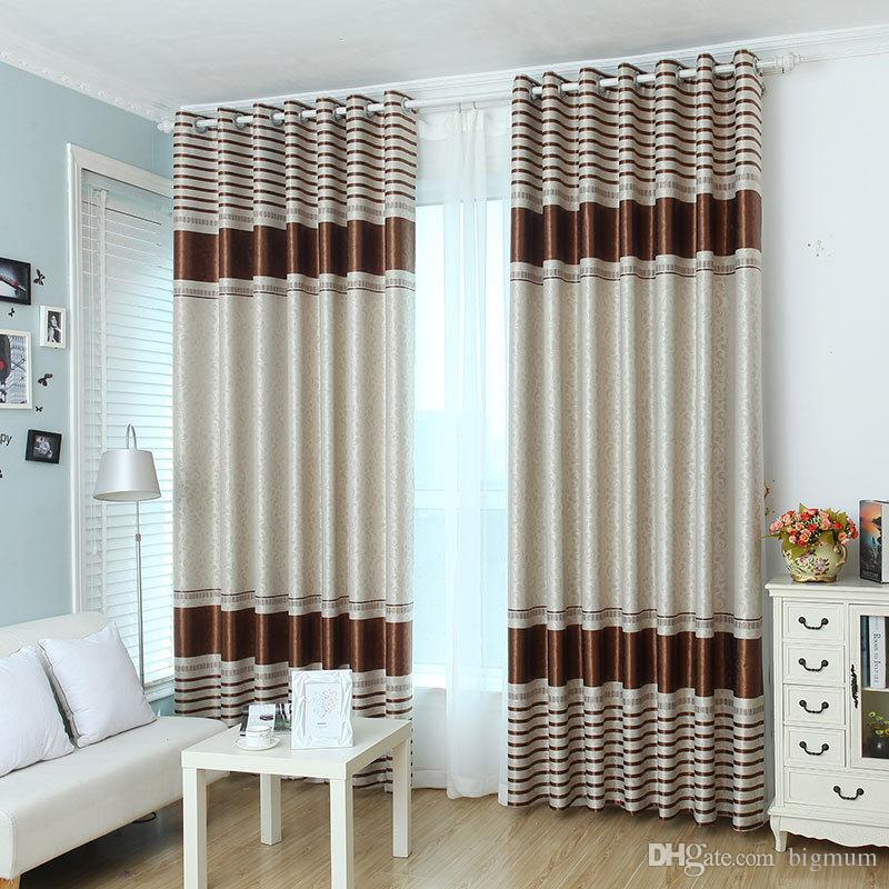 Blackout Curtains for Living Room Dining Room Bedroom 4 Colors Striped  Modern Minimalist Shading Fabric White Tulle Curtain Treatment