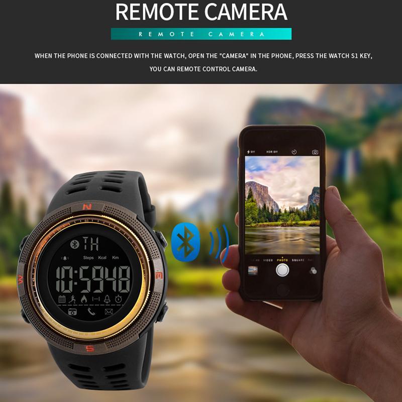 Uhren Herrenuhren Skmei Männer Smart Uhr Calorie Pedometer Multi-funktionen Fernbedienung 50 M Wasserdichte Digitale Sport Männer Smartwatch Relogio Masculino