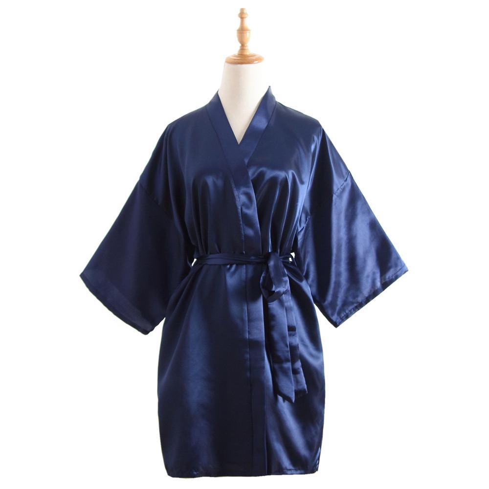 2019 Vintage Ladies  Satin Short Nightgown Sleepwear Chinese Women Robe  Dress Gown Vintage Kimono Yukata Lounge Nightwear Pajamas From Shengui 60dde2135