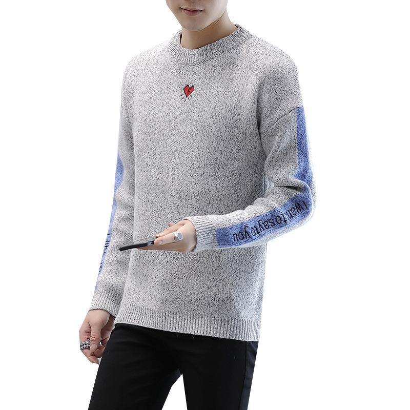 f21d5be806b99e 2019 Casual O Neck Knitted Pullover Woolen Sweater Men Korean Style Knitted  Pullover Loose Thick Men Clothes 2018 From Jiuwocute, $73.45 | DHgate.Com