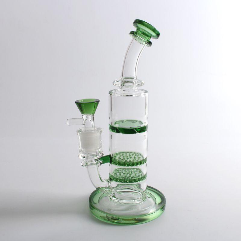 2018 Glass BONG нефтяной вышке сота / торнадо перхлорэтилена водопроводных труб большого совместного мазок установок Bongs бесплатную доставку