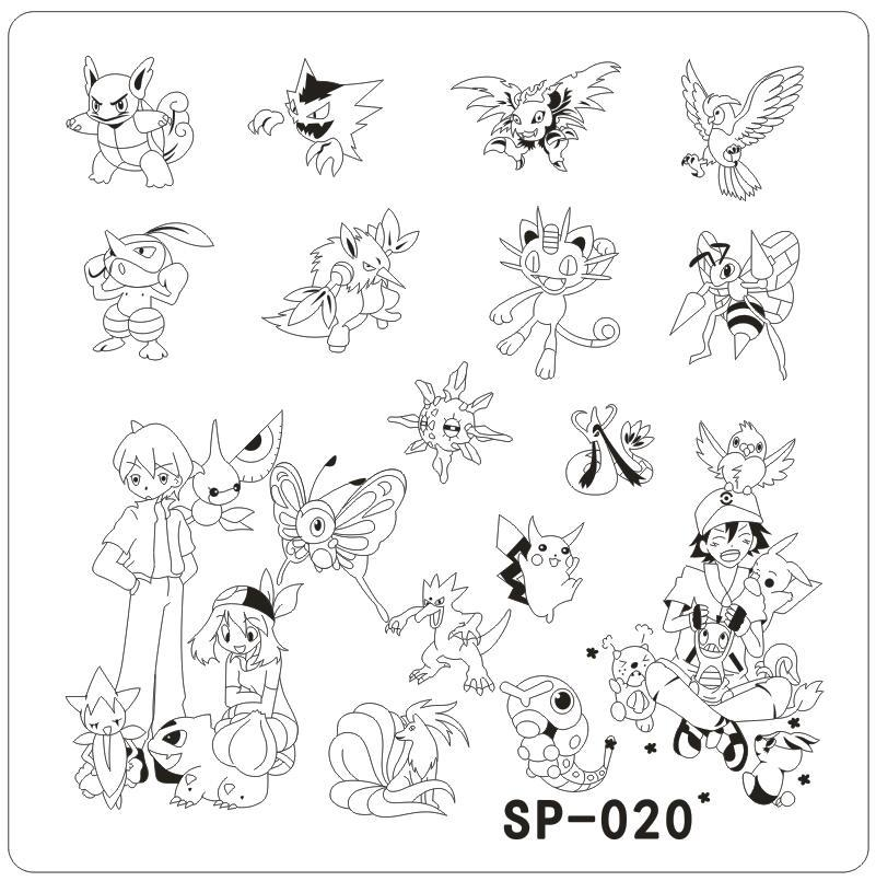 Sp 020 Nail Art Template Cartoon Characters Stainless Steel Stamping ...