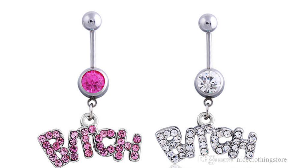 الفضة / الوردي مثير الكريستال الجسم ثقب الجراحية زر البطن حلقة المجوهرات السرة بار