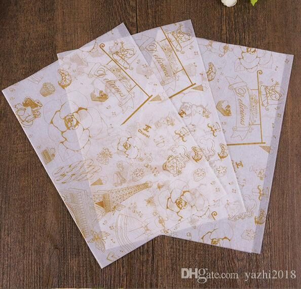 2018 28cmx38cm food grade wax coated paper red check dry wax paper