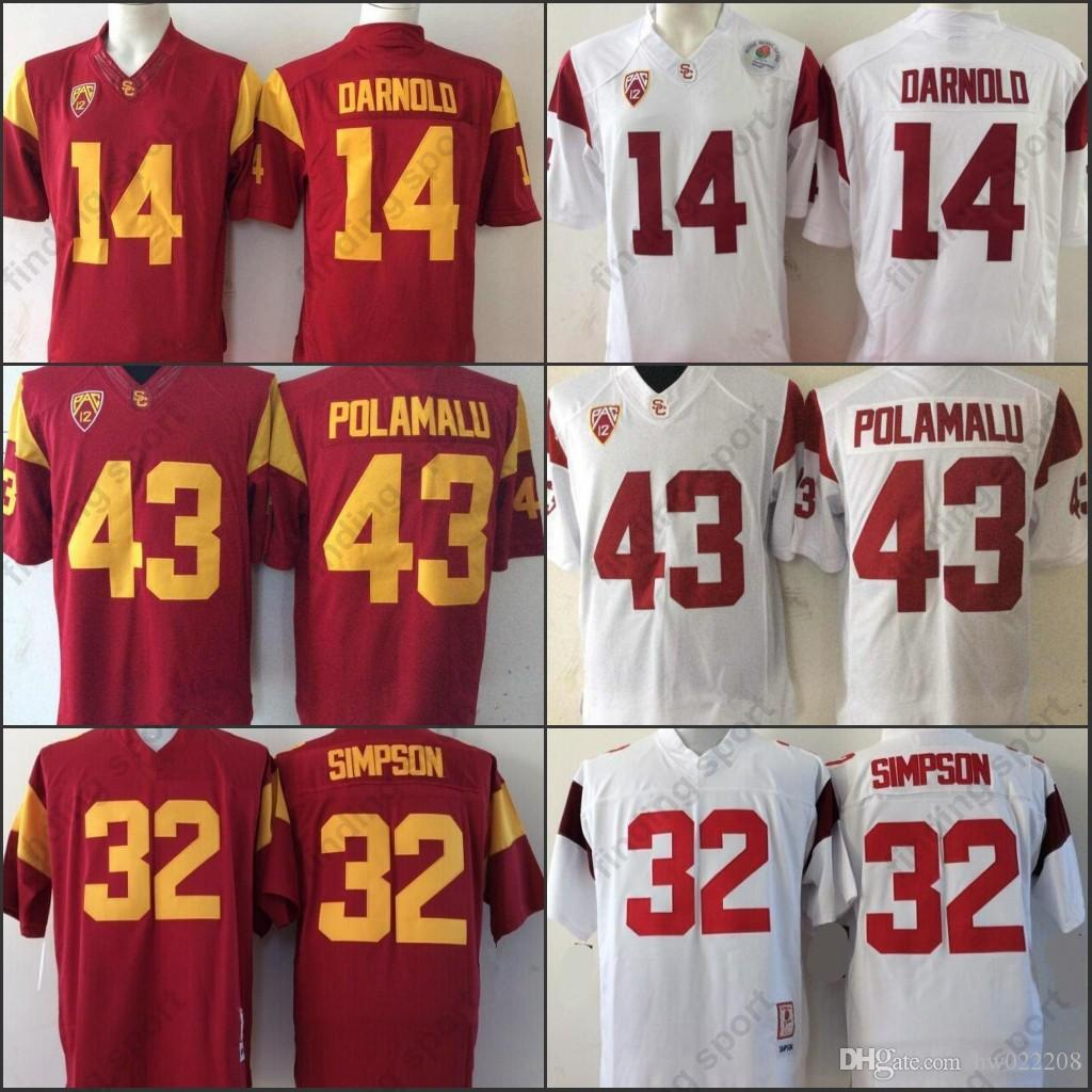 afffdba6f 2019 NCAA USC Trojans College Football Limited Stitched Jerseys 14 Sam  Darnold 43 Troy Polamalu 32 OJ Simpson 55 Junior Seau Red White 2018 From  Fanatics01