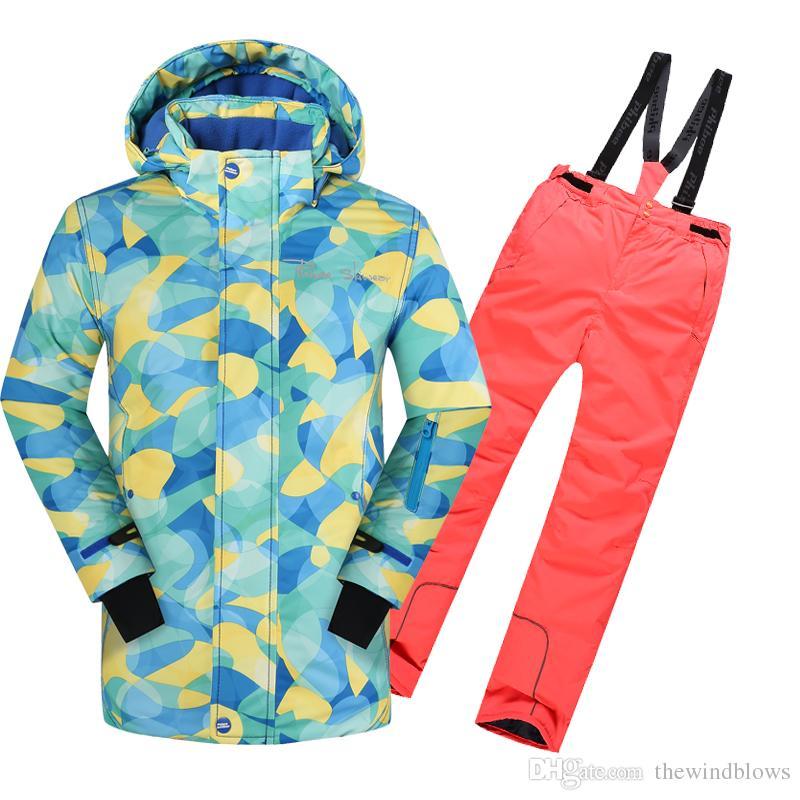 3dd74383c 2018 Children Sets Outerwear Winter Warm Coat Ski Suit Kids Clothes ...