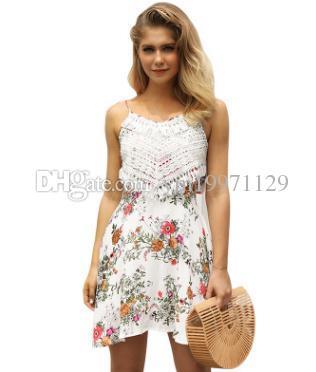f4cddb8d72f 2018 Hot Sale Sexy Summer Sexy Women Lace Dress White Spaghetti Casual Mini  Vestido Club Party Dress Sexy Women Lace Dress Online with  27.43 Piece on  ...