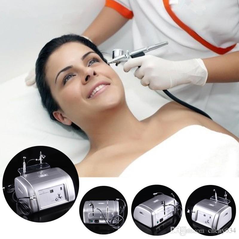 2 In 1 Oxygen Injection Gun Spray Water Jet Skin Rejuvenation Oxygen Facial Machine 99% Pure Oxygen For Acne Removal Skin Rejuvenation