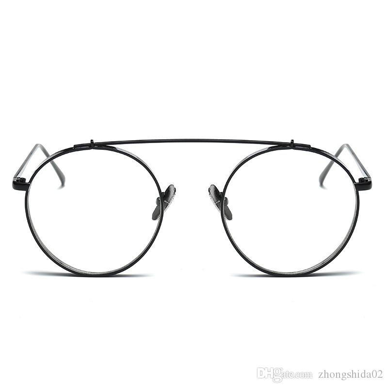 9f6f1c3b782 Hindfield 2018 Newest Fashion Round Glasses Frames for Women Metal ...