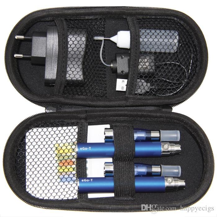 CE4 Ego T Starter Double Kits Zipper Case kit Electronic Cigarette 2 CE4 Atomizers 2 Batteries 650mah 900mah 1100mah E Cigarette kits