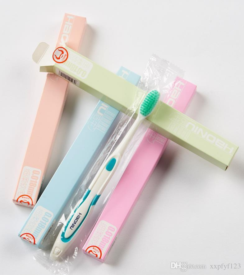 Oral Hygiene single package toothbrushes Home decoration soft hair candy color tooth brush adult antibacterial gingival toothbrush a380