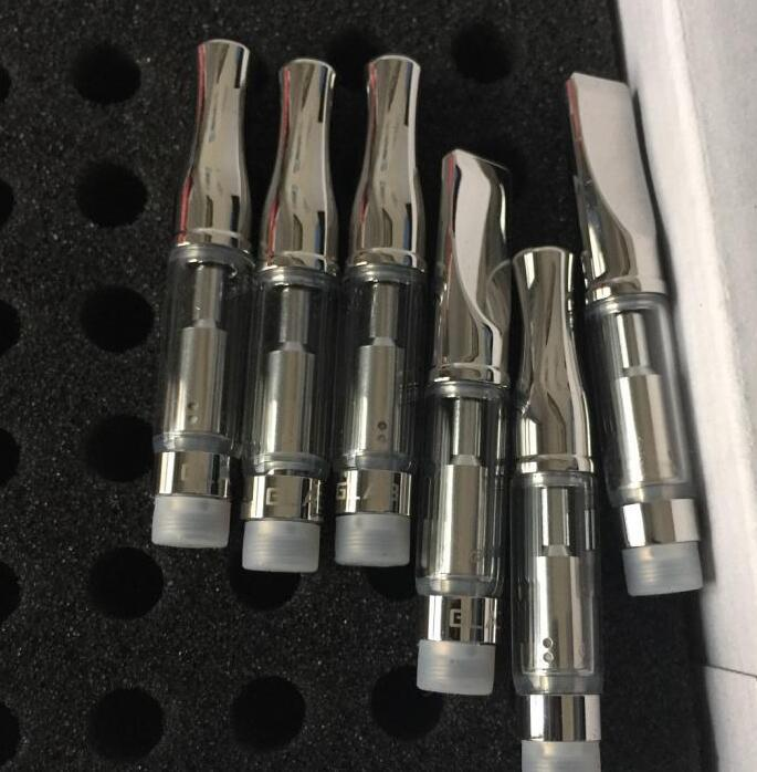 e cigarette .5ml disposable glass refill atomizer cartridges with metal round metal drip tip Buddyline factory direct sale
