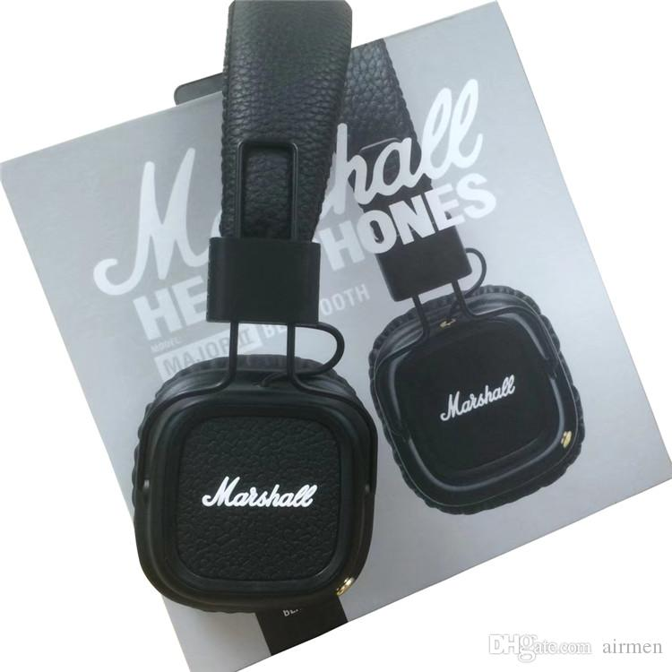 New Marshall Major II 2.0 Bluetooth Wireless Headphones DJ Studio Beat Headphone Deep Super Bass Noise Isolating Headset for iPhone Samsung
