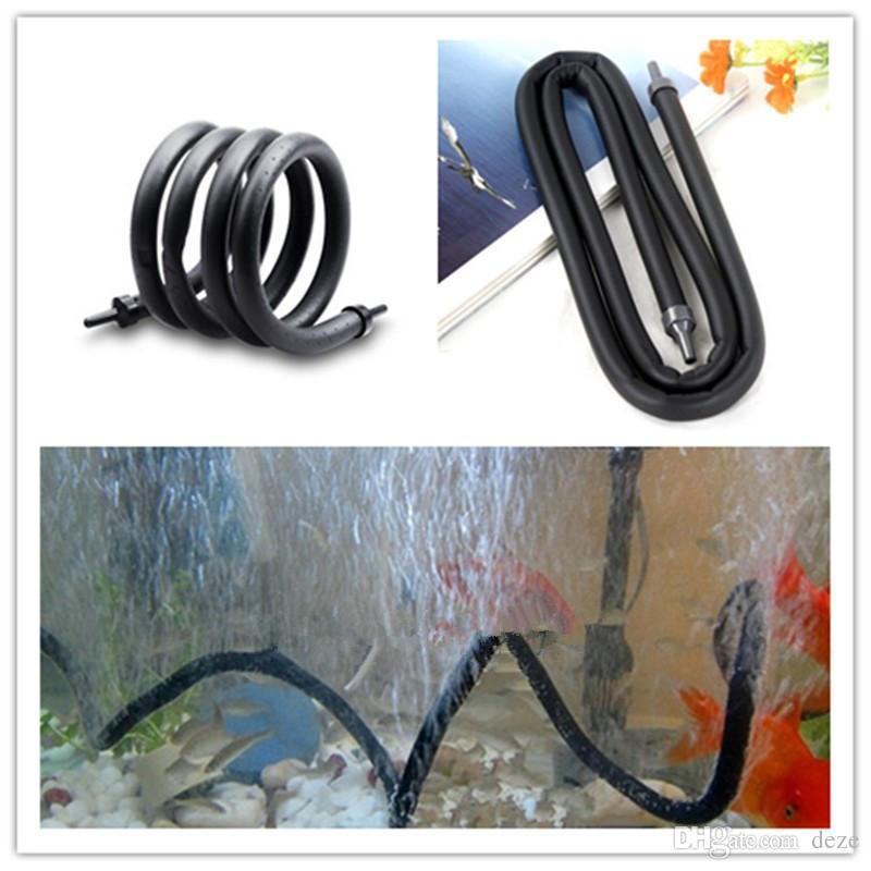 / noir aquarium air bar à bulles bar rideau de mur tube de tuyau de poisson réservoirs de poissons pompe oxygène hydroponique tube diffuseur 20/30/45/60/9 cm