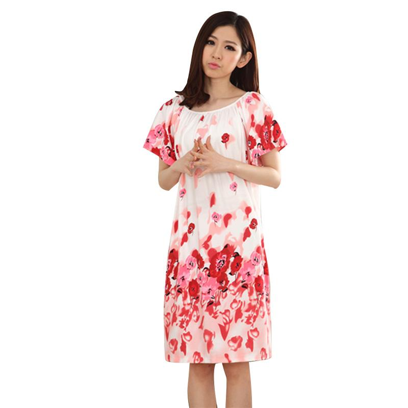 e7b882a34e99d 2019 Summer Nightgown Nightdress For Women Plus Size Ladies Lingerie Pajama  Maternity Sleepwear Pregnant Nightwear Robes Pajamas From Breenca, ...