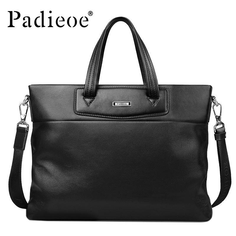 c74895c67b4 Padieoe Luxury Business Briefcase Male Genuine Leather Briefcase Men ...