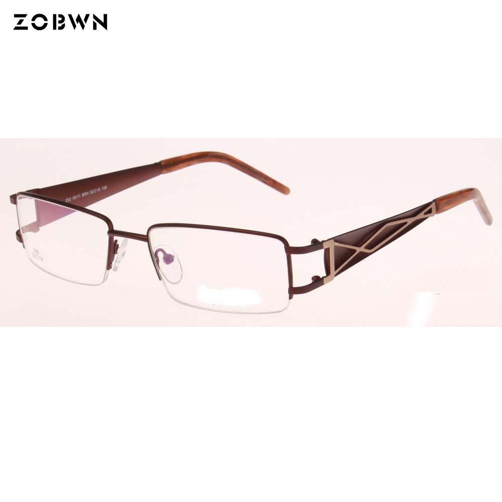 7daaca8fdf Half Frame Brand Designer Fashion Men Eye Frame Glasses Women Eyeglasses  Optical Glasses Unisex Spectacle Frames Oculos Eyewear Frames Cheap Eyewear  Frames ...