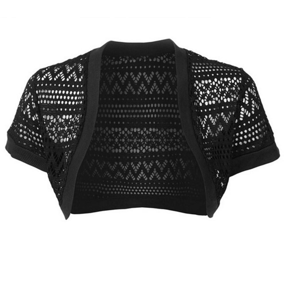 Crochet Shawl Cardigan Coat Short Sleeve Kimono Spring Summer Sexy Short Kimono Cardigan Sunscreen Women Jacket