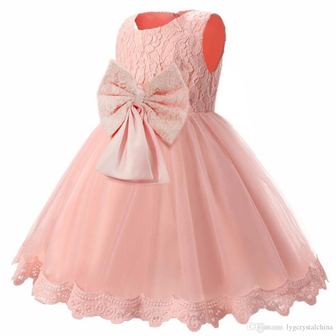 top seller grils wedding dress for summer collection no sleeve kids wedding dress pink and white color for option 100%polyester 3pcs a lot