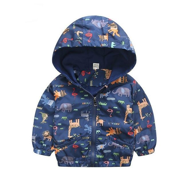 9c11dd001 80-120cm Cute Dinosaur Spring Children Coat Autumn Kids Jacket Boys ...