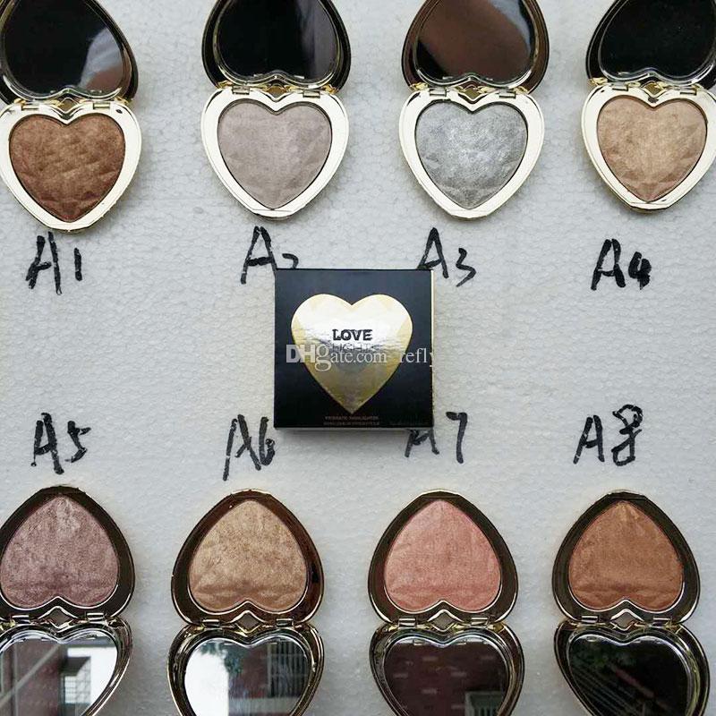 T00faced الحب ضوء المنشورية تمييز ماكياج برونزي الذهبي التلألؤ المنور 8 ألوان ظلال العيون dhl مجانا