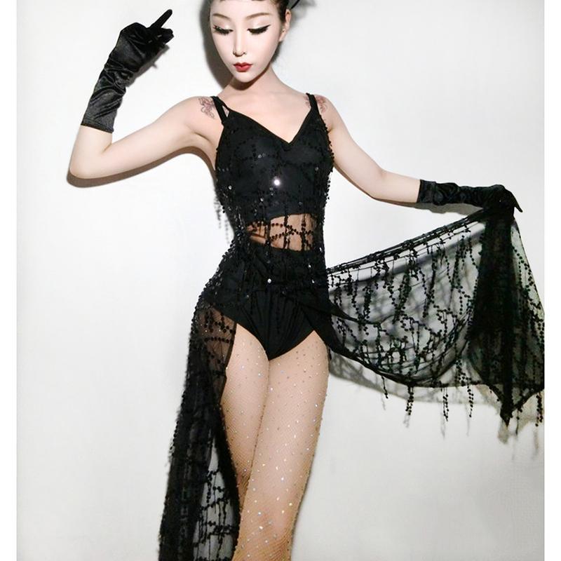 Compre 2018 Negro Jazz Dance Disfraces Para Lady Red Mujeres Bar Dj Dancers Etapa  Hip Hop Ropa Sexy Show Original Cantante Vestido I292 A  45.77 Del ... a170e88a03b