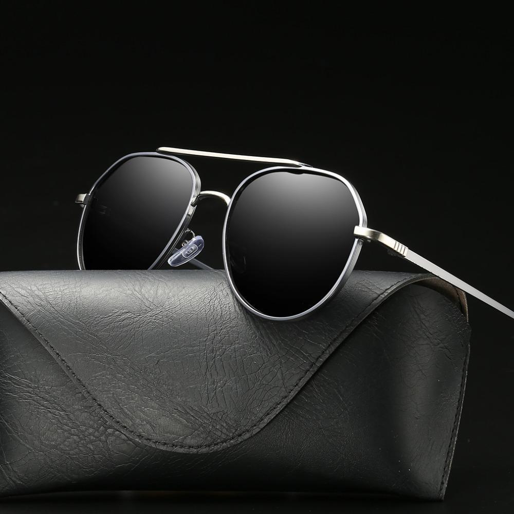 7c5b818018f09 Compre 2018 New Unisex Polarizada Óculos De Sol Dos Homens Moda Liga Piloto  De Vidro Para A Condução Clássico Retro Óculos De Sol Para As Mulheres  Oculos De ...