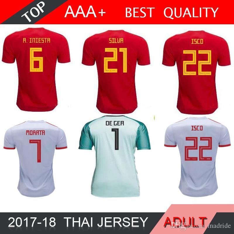987e0de6cf9 2019 2018 Spain Jersey Home Away Soccer Jersey 2018 World Cup Spain Home  Goalkeeper 2018 ASENSIO MORATA ISCO A.INIESTA Football DE GER From Madride