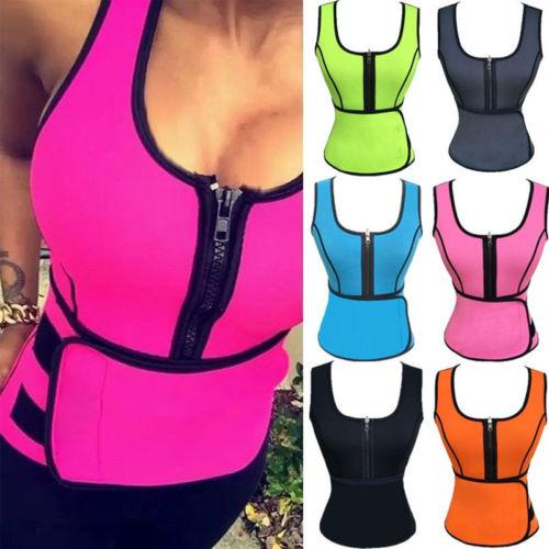 7eca3ee542c 2019 Waist Cincher Sweat Vest Trainer Tummy Girdle Control Corset Body  Shaper For Women Plus Size S M L XL XXL 3XL From Glass smoke